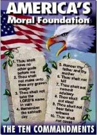 Ten Commandments Christian car magnets