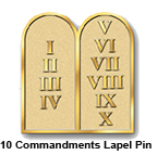 10 Commandments Lapel Pins