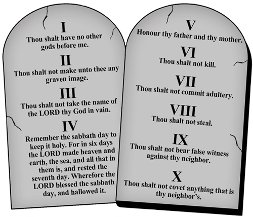 Magnetic Bumper Sticker Religious Magnet 10 Commandments on Stone Tablets