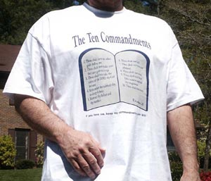 Ten Commandments tshirt