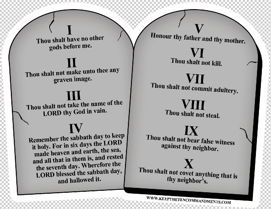 Ten Commandments Stone Tablets Magnet