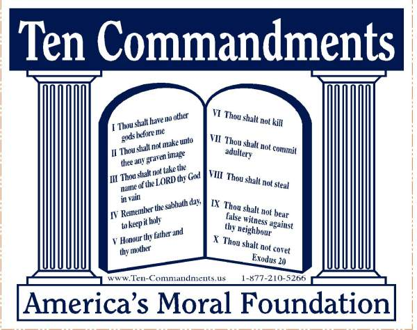 10 Commandments Decals