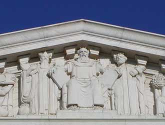 Ten Commandments and Moses at the Supreme Court Building