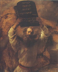 Moses with the 10 Commandments