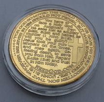 Ten Commandments Gold Coin