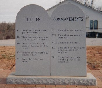 Stone Tablets of the Ten Commandments